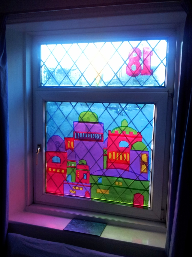 our advent window in reverse