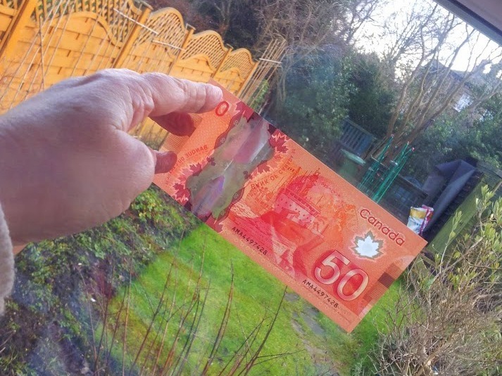 Canadian dollars thanks to good service in Pudsey