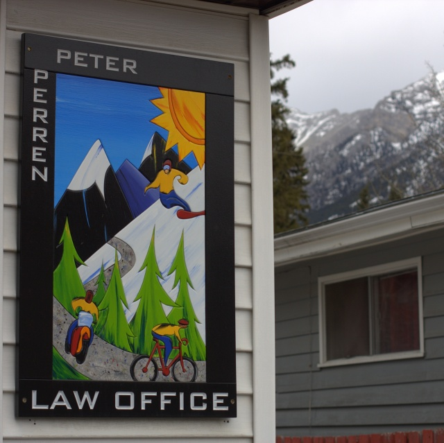 My kind of lawyer, Canmore, Alberta