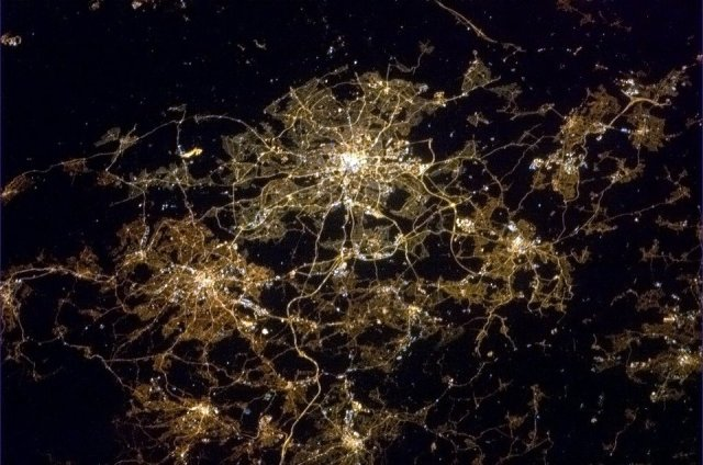 West Yorkshire from space - copyright Cmdr Chris Hadfield
