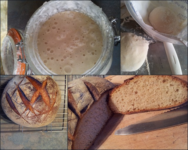 The sourdough starter, the kneading, the baking and the eating. Nom nom!