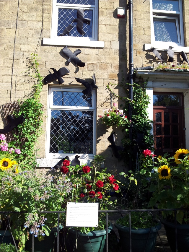 Don't Stone the Crows, a homage to crows, my entry in the Calverley Scarecrow Festival
