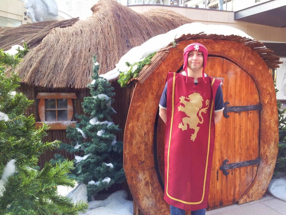 Fellow herald Sam outside Mr Tumnus' cave