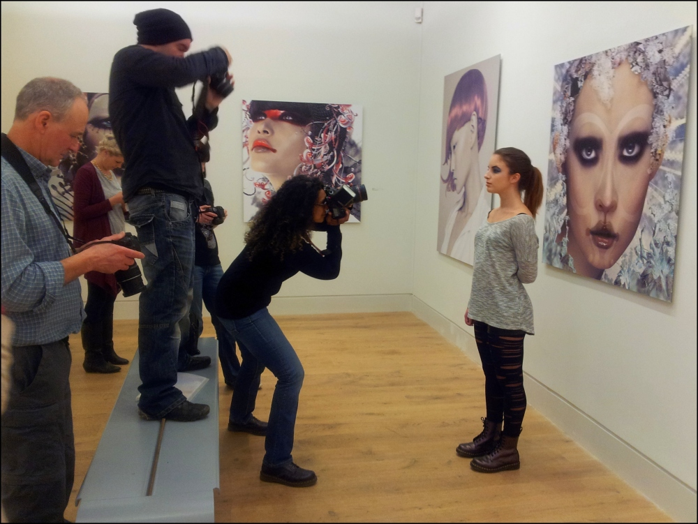 Creative photographers at work at the Stanley and Audrey Burton Gallery