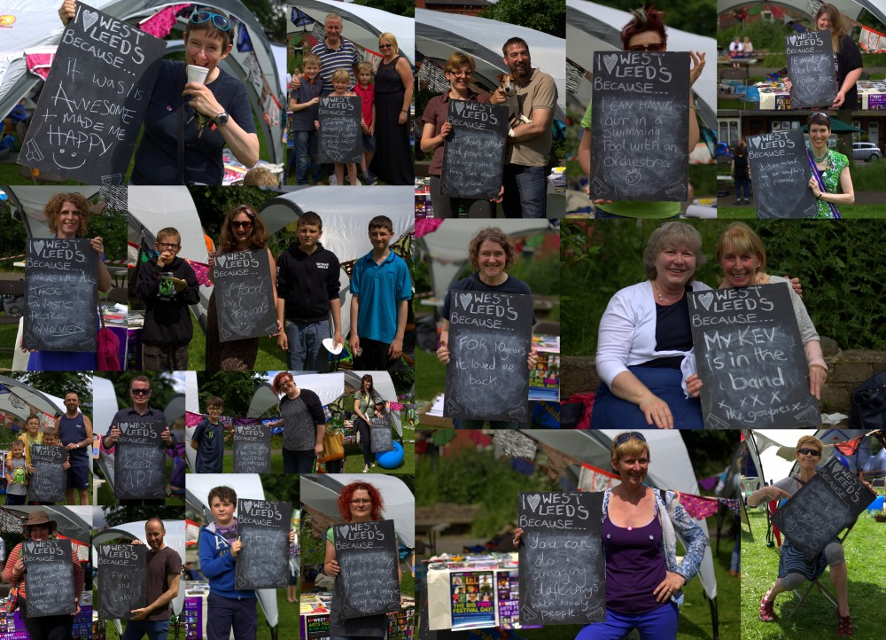 Farewell messages at the I Love West Leeds Arts Festival