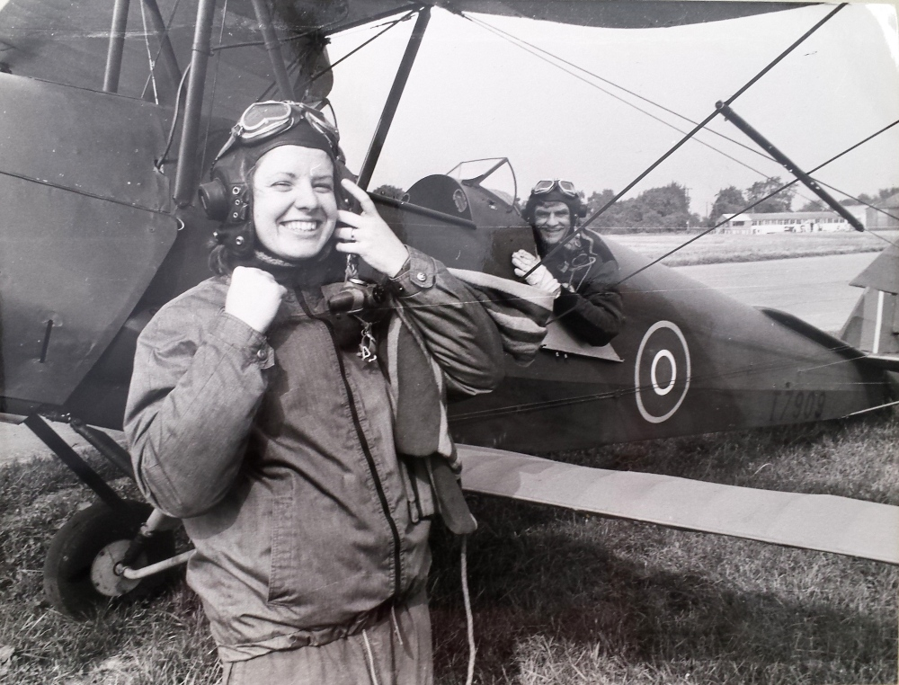 Preparing for a flight in a Tiger Moth in my journalism days