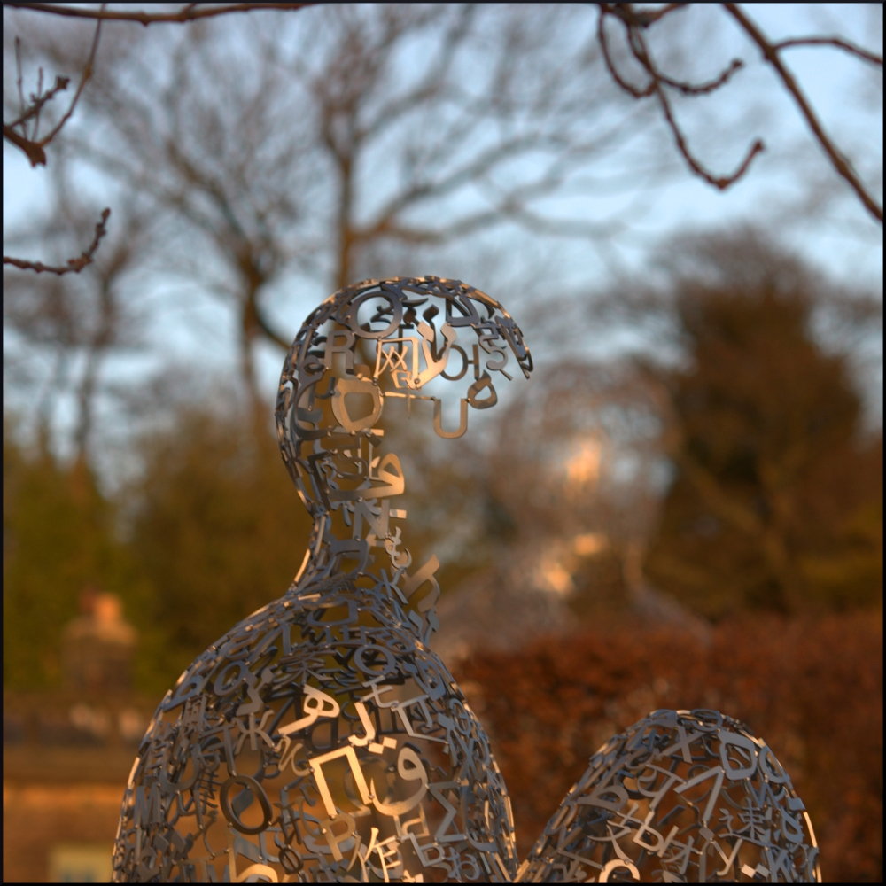 The fantastic Jaume Plensa exhibition. I couldn't get enough of it!