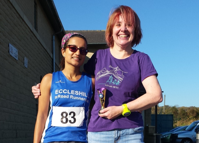 Me, my trophy and a de-mudded Reena